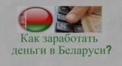 На чем можно заработать денег в Беларуси
