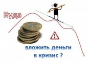 Куда вложить деньги в кризис?